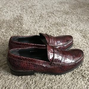 Dsquared2 Men's Burgundy Embossed Loafers